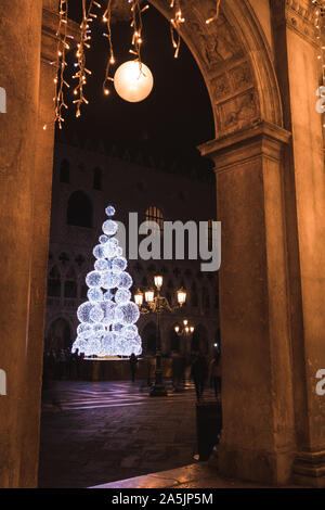 Christmas tree in Vendig - Stock Photo