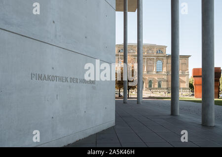 Exterior of Pinakothek Der Moderne museum, Kunstareal, Munich, Bavaria, Germany - Stock Photo