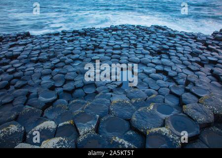 Giant's Causeway, columnar basalt columns, result of an ancient volcanic fissure eruption, Northern Ireland, UK, World Heritage site