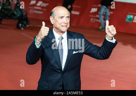 US ambassador to Italy, Lewis M. Eisenberg gestures as he arrives for the screening of the film 'The Irishman' during the 14th Rome Film Festival. - Stock Photo