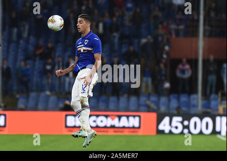 Fabio Depaoli (Sampdoria) during Sampdoria vs AS Roma, Genova, Italy, 20 Oct 2019, Soccer Italian Soccer Serie A Men Championship - Stock Photo