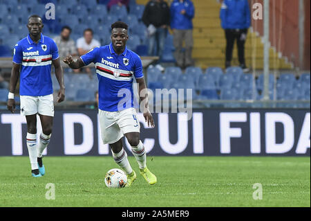 Ronaldo Vieira (Sampdoria) during Sampdoria vs AS Roma, Genova, Italy, 20 Oct 2019, Soccer Italian Soccer Serie A Men Championship - Stock Photo