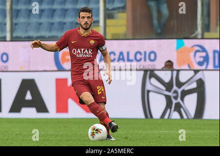 Alessandro Florenzi (Roma) during Sampdoria vs AS Roma, Genova, Italy, 20 Oct 2019, Soccer Italian Soccer Serie A Men Championship - Stock Photo