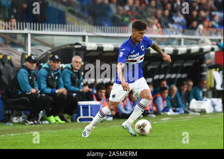 Emiliano Rigoni (Sampdoria) during Sampdoria vs AS Roma, Genova, Italy, 20 Oct 2019, Soccer Italian Soccer Serie A Men Championship - Stock Photo