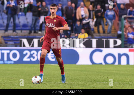 Gianluca Mancini (Roma) during Sampdoria vs AS Roma, Genova, Italy, 20 Oct 2019, Soccer Italian Soccer Serie A Men Championship - Stock Photo