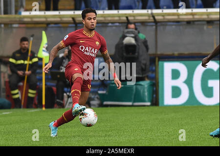 Justin Kluivert (Roma) during Sampdoria vs AS Roma, Genova, Italy, 20 Oct 2019, Soccer Italian Soccer Serie A Men Championship - Stock Photo