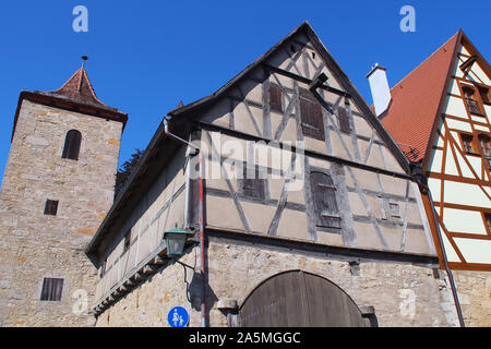 Rothenburg ob der Tauber, Freistaat Bayern, Germany, Europe - Stock Photo