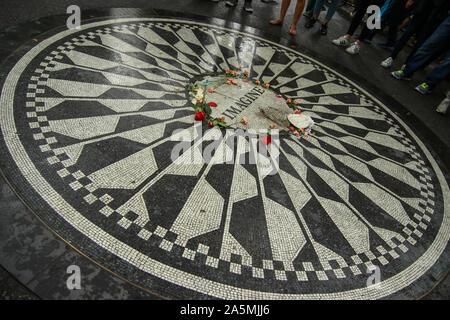 Strawberry Fields, the John Lennon Memorial in Central Park