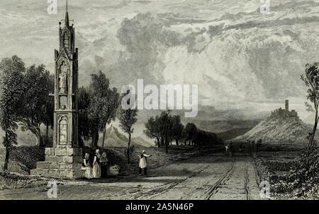 High Cross near Bonn, Germany, circa 1832 - Stock Photo