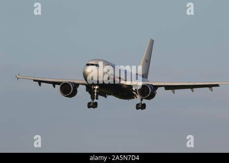 15001, an Airbus CC-150 Polaris operated by the Royal Canadian Air Force, at Prestwick International Airport in Ayrshire. - Stock Photo