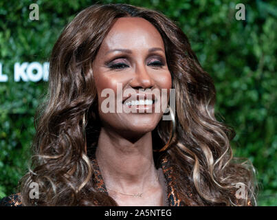 New York, United States. 21st Oct, 2019. Iman attends the 13th Annual Golden Heart Awards at Cipriani South Street (Photo by Lev Radin/Pacific Press) Credit: Pacific Press Agency/Alamy Live News - Stock Photo
