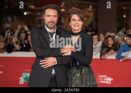 Rome, Italien. 20th Oct, 2019. Nicolas Bedos and Fanny Ardant at the premiere of the movie 'La belle époque/The Sweetest Time of our lives' at the 14th Rome International Film Festival/Festa del Cinema di Roma 2019 at the Auditorium Parco della Musica. Rome, 20.10.2019 | usage worldwide Credit: dpa/Alamy Live News - Stock Photo