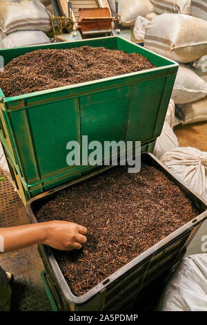 Tea grading near Kandy Ceylon/Sri Lanka - Stock Photo