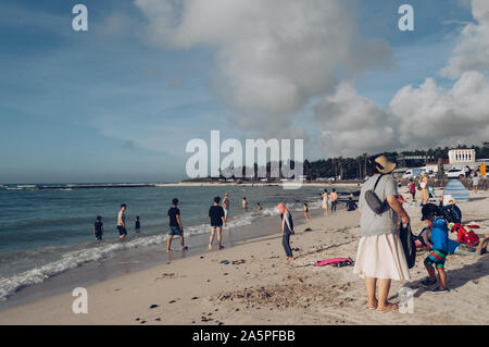 Jeju Island, South Korea, september 07, 2019: people relaxing at Geumneung  beach - Stock Photo