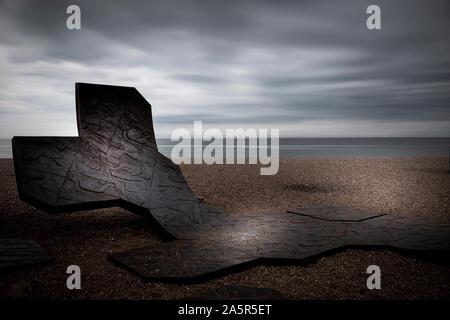 metal sculpture on brighton beach