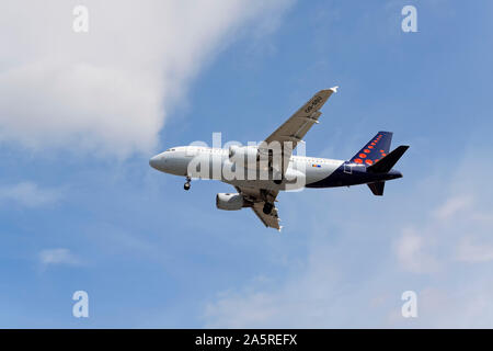 Airbus A319-100, Brussels Airlines - Stock Photo