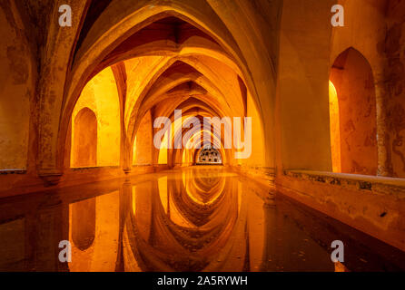Baths of Maria De Padilla real Alcazar Seville Royal Alcázar of Seville Real Alcázar of Seville Seville Spain seville Andalusia EU Europe - Stock Photo