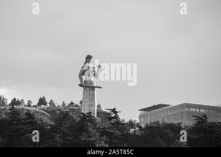 Kartlis Deda, Mother of a Georgian a monument in Georgia's capital Tbilisi - Stock Photo