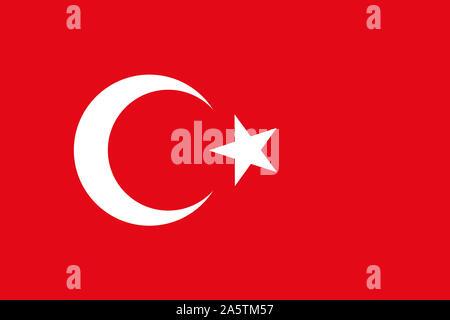 Nationalfahne, Flagge von Tuerkei, Europa, Asien, - Stock Photo