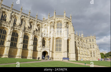 LONDON , ENGLAND- OCTOBER, 4 2017 entrance to st george's chapel at windsor castle - Stock Photo