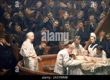 The Agnew Clinic, or, The Clinic of Dr. Agnew, is an 1889 oil painting by American artist Thomas Eakins, 1844-1916. It was commissioned to honour anatomist and surgeon David Hayes Agnew, on his retirement from teaching at the University of Pennsylvania. - Stock Photo
