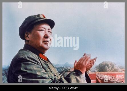 Mao Zedong (1893 – 1976). Chinese Communist revolutionary and the founding father of the People's Republic of China, which he governed as Chairman of the Communist Party of China from its establishment in 1949 until his death in 1976. - Stock Photo