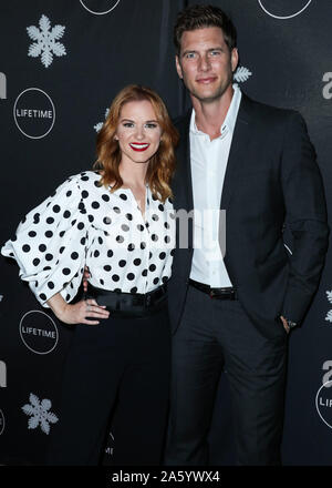 Westwood, United States. 22nd Oct, 2019. WESTWOOD, LOS ANGELES, CALIFORNIA, USA - OCTOBER 22: Actress Sarah Drew and actor Ryan McPartlin arrive at the 'It's A Wonderful Lifetime' Holiday Party held at STK Los Angeles at W Los Angeles - West Beverly Hills on October 22, 2019 in Westwood, Los Angeles, California, United States. (Photo by Xavier Collin/Image Press Agency) Credit: Image Press Agency/Alamy Live News - Stock Photo