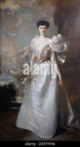 Portrait of Marguerite Hyde, 19th Countess of Suffolk by John Singer Sargent (1856-1925) American artist. Dated 1898 - Stock Photo