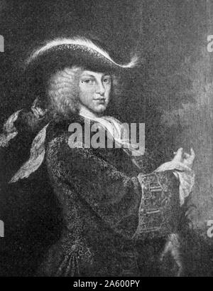 Portrait of King Philip V of Spain (1683-1746) French king of Spain. Dated 18th Century - Stock Photo