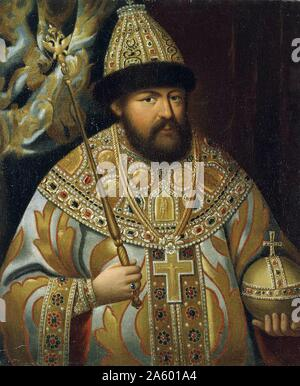 Aleksey Mikhailovich (1629 – 1676) Tsar Alexis I; of Russia. His reign saw the Russian invasion of Polish–Lithuanian Commonwealth; war with Sweden; the Raskol schism in the Russian Orthodox Church; and the Cossack revolt of Stenka Razin - Stock Photo
