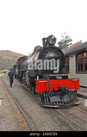 Kingston Flyer train, Kingston, Otago, new Zealand - Stock Photo
