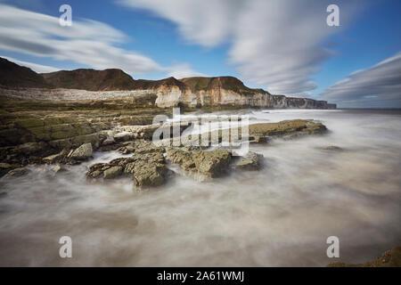 Thornwick Bay, Flamborough Head, East Yorkshire, England, UK - Stock Photo