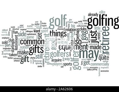 Retirement Gifts For Golfers - Stock Photo