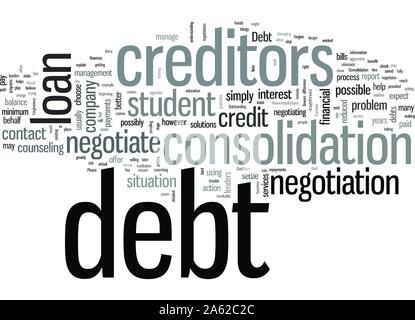Negotiate Your Student Loan Debt - Stock Photo