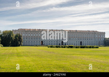 The Royal Palace in Caserta, also Reggia di Caserta, Italy. Designed in the 18th century by Luigi Vanvitelli, commissioned by Charles III of Bourbon. UNESCO World Heritage - Stock Photo