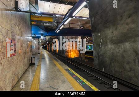 Rio de Janeiro, Brazil - February 24, 2018: Cardeal Arcoverde station - Stock Photo