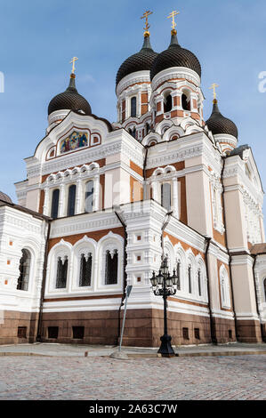 Alexander Nevsky Orthodox cathedral in  Tallinn old town - Stock Photo
