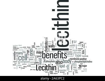 Lecithin Benefits - Stock Photo