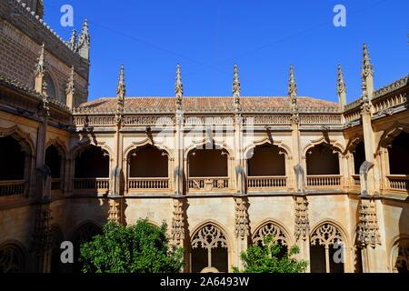 Gothic cupola of Monasterio San Juan de los Reyes or Monastery of Saint John of the Kings in Toledo, Spain. - Stock Photo