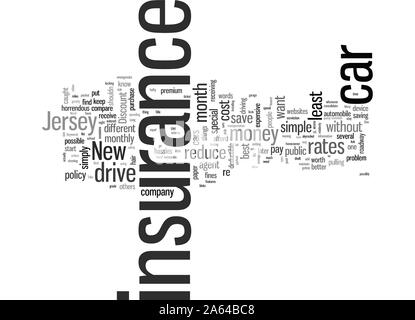 How To Get The Best Rates On Car Insurance In New Jersey - Stock Photo