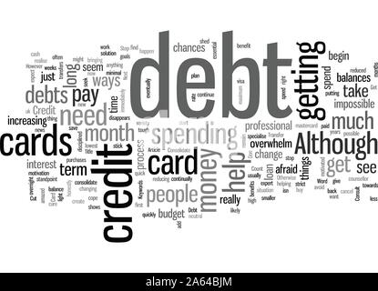 How To Get Out Of Credit Card Debt - Stock Photo