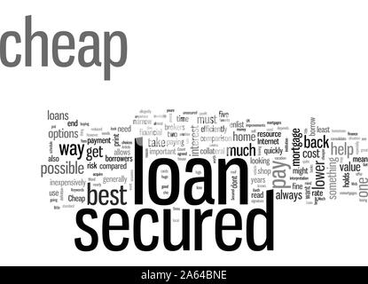 How To Get Your Hands On A Cheap Secured Loan - Stock Photo