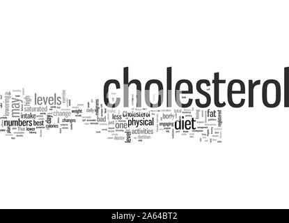 HOW TO LOWER CHOLESTEROL - Stock Photo
