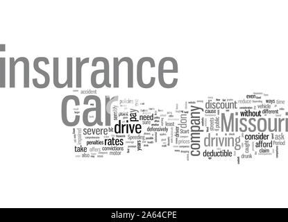 How To Get The Best Rates On Car Insurance In Missouri - Stock Photo