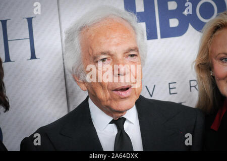New York, United States. 23rd Oct, 2019. Ralph Lauren attend(s) the VERY RALPH film premiere held at the Metropolitan Museum of Art in New York City. Credit: SOPA Images Limited/Alamy Live News - Stock Photo