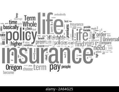 How To Find Affordable Life Insurance In Oregon - Stock Photo