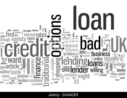 How to Find a Bad Credit Loan UK - Stock Photo