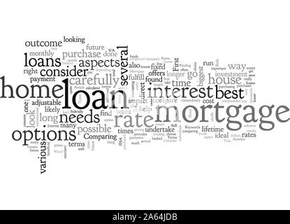 Home Mortgage What To Consider - Stock Photo