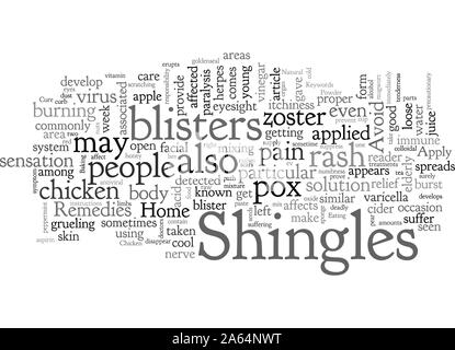 Home Remedies For Shingles - Stock Photo