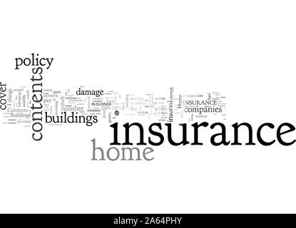 Home Buildings Contents Insurance - Stock Photo